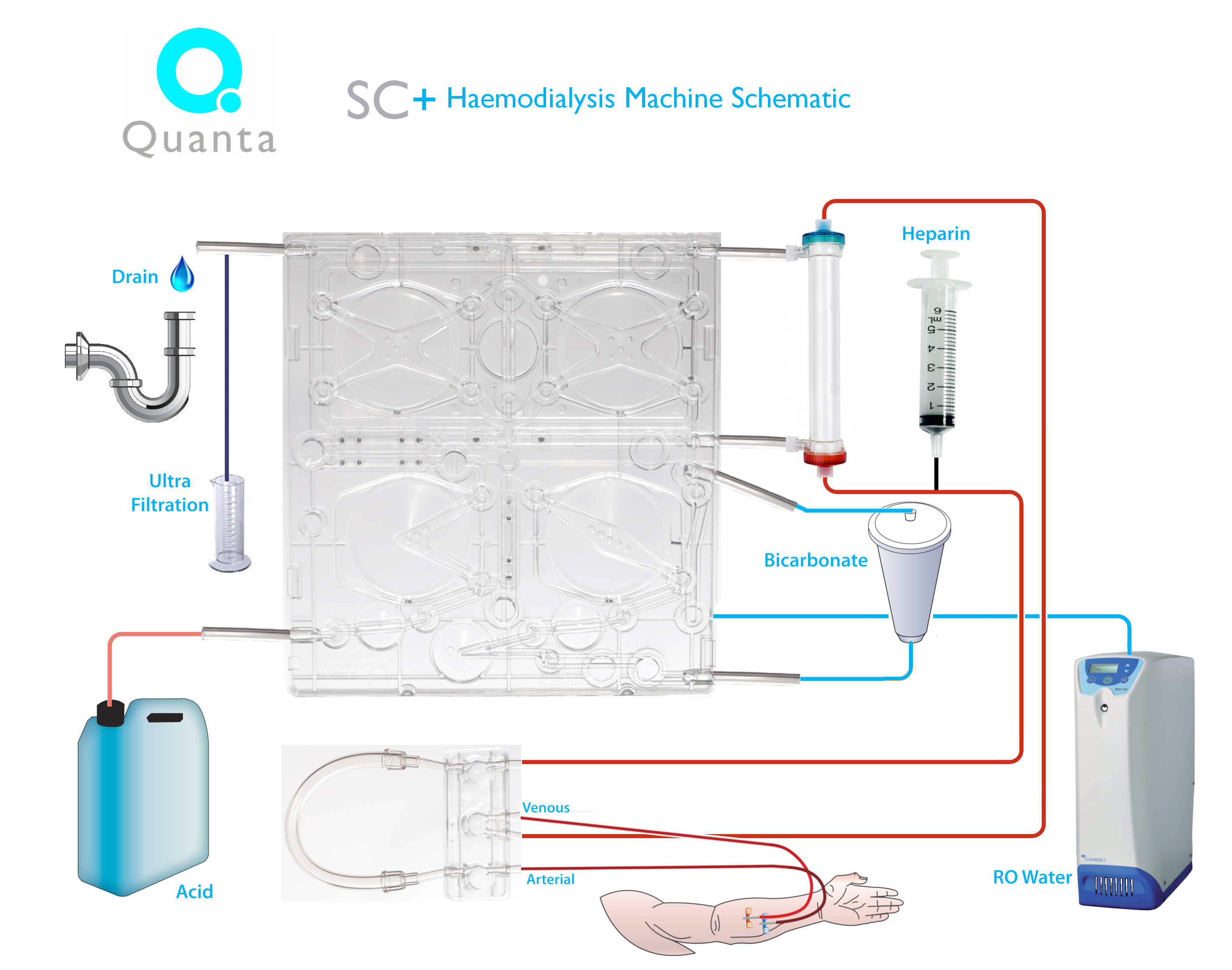 Quanta SC+ Haemodialysis Machine Schematic