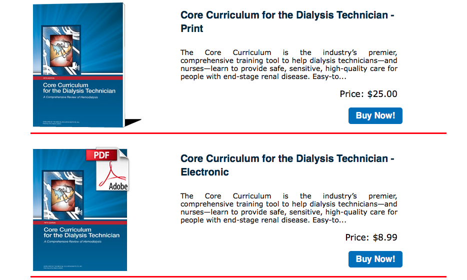Core Curriculum for the Dialysis Technician