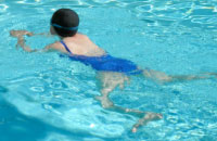 Lady swimming
