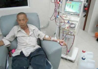 Man on dialysis